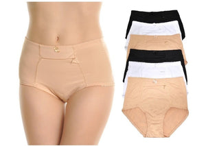 Slimming High Waist Briefs with Pockets (Neutral Colors)