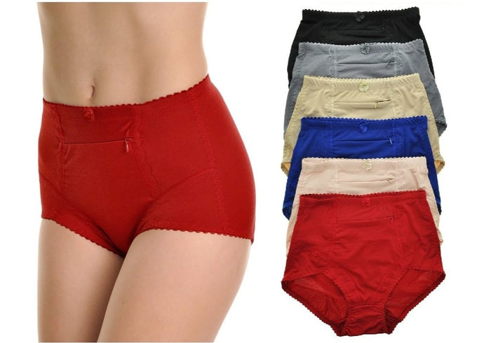 Slimming High Waist Briefs with Pockets