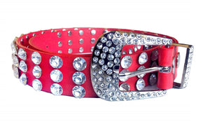 Oversize Rhinestone & Heavily Studded Jewel Belts