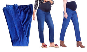 Maternity Cotton Crossover the Bump Panel Straight Jeans