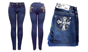 Mid-Rise Skinny Denim Push-Up Jeans