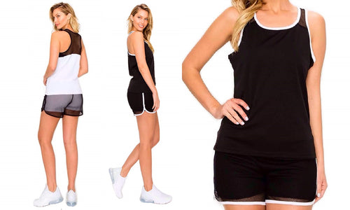 Racerback Sports Tank & Shorts Set