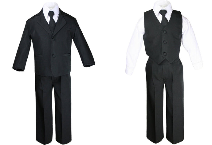 Formal Suit Sets for Boys and Toddlers - Black
