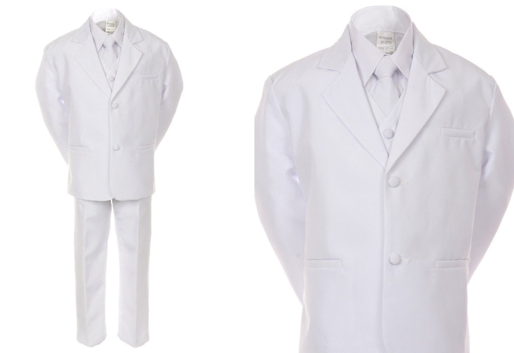 Formal Suit Sets for Boys and Toddlers - White