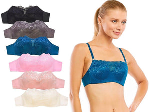 Built-In Modesty Front Lace Bras