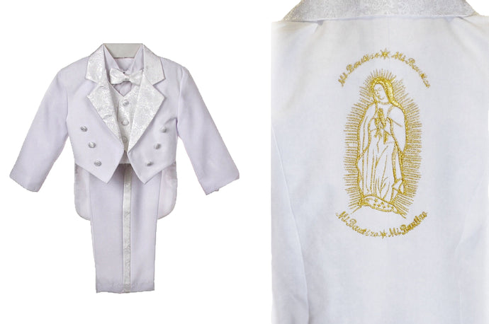 Virgin Mary Baptism Tux Suits for Boys and Toddlers (Gold)