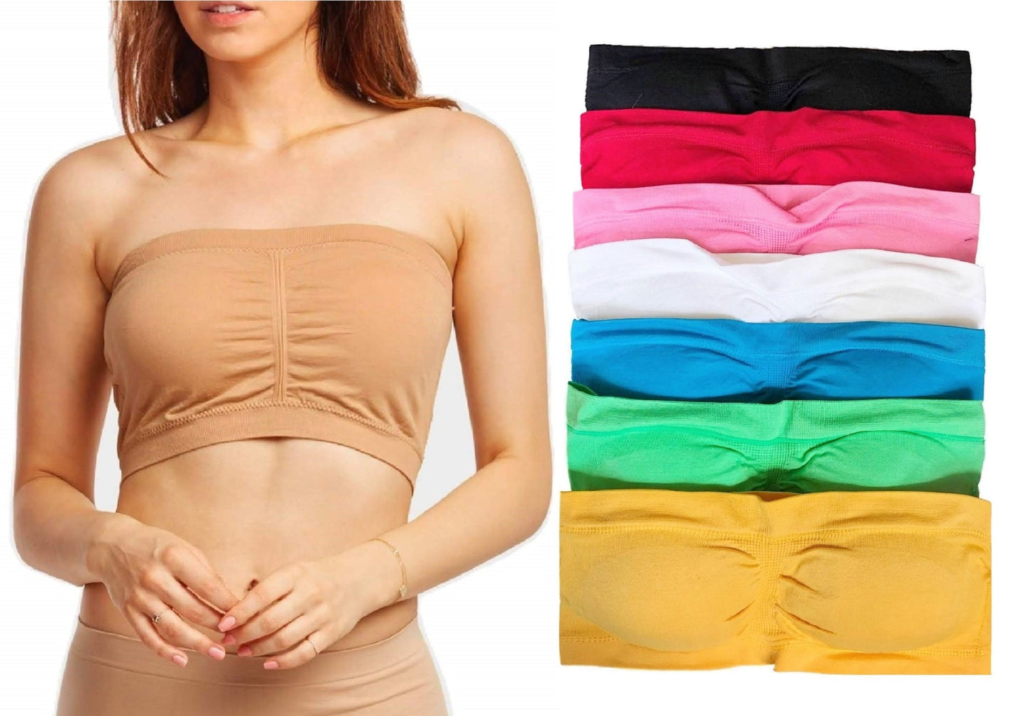 Stretchy Convertible Tube Top Bandeau Bras