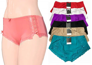 Effortless Ribbons & Lace Sides Boyshorts