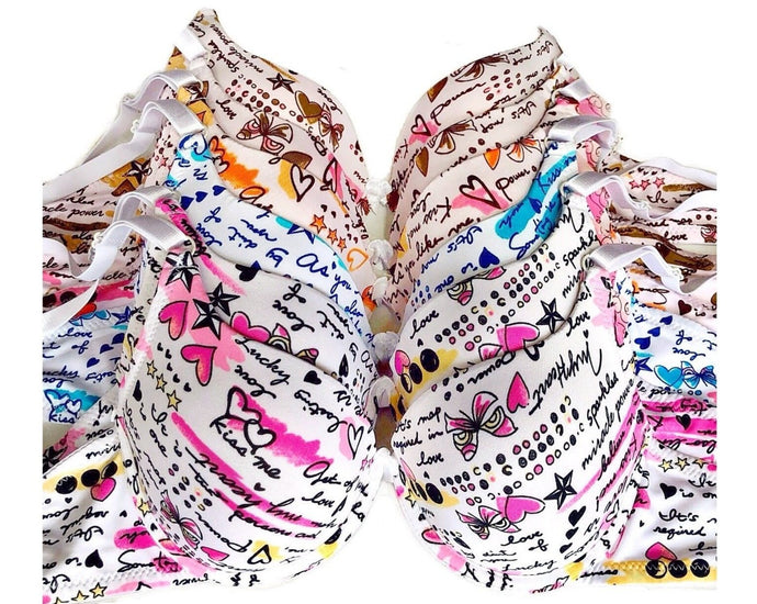 Flirty Fun Hearts & Kisses Full Coverage Bras