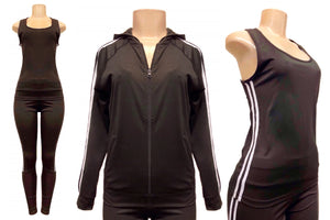 Tracksuit Set: Tank, Jacket and Pants