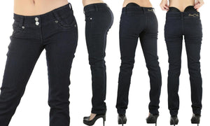 Shaping Jeans with Removable Butt Pads