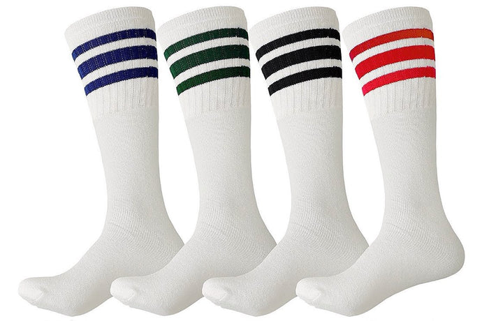 Striped Athletic Crew Socks (12-Pairs)