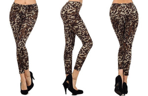 Safari Cheetah Fleece Knit Leggings