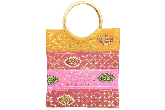 Casual Embellished Tote Bag