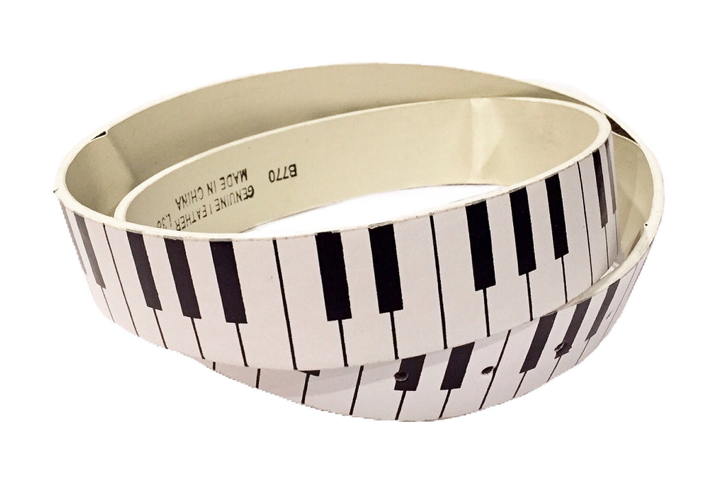 Musical Keyboard Leather Belt