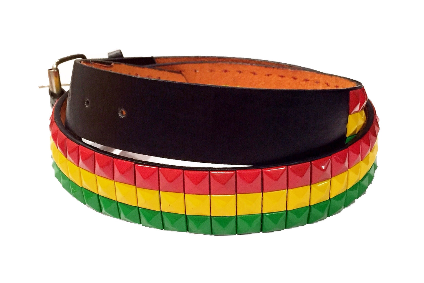 Studded Jamaican Leather Belt