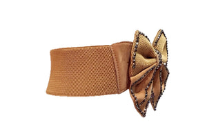 Adjustable Bow Tie Rhinestone Embellished Belt