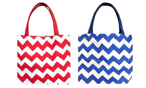 Chevron Fabric Swing Tote (Red)