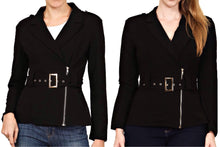 Blazer Jacket with Buckle Belt