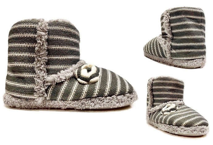 House Slipper Shoes Lined with Faux Fur - Indoor & Outdoor Wear