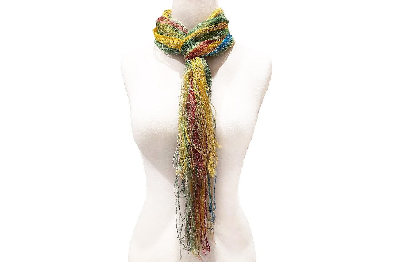 Colorful Spring Sequin Fringed Scarf