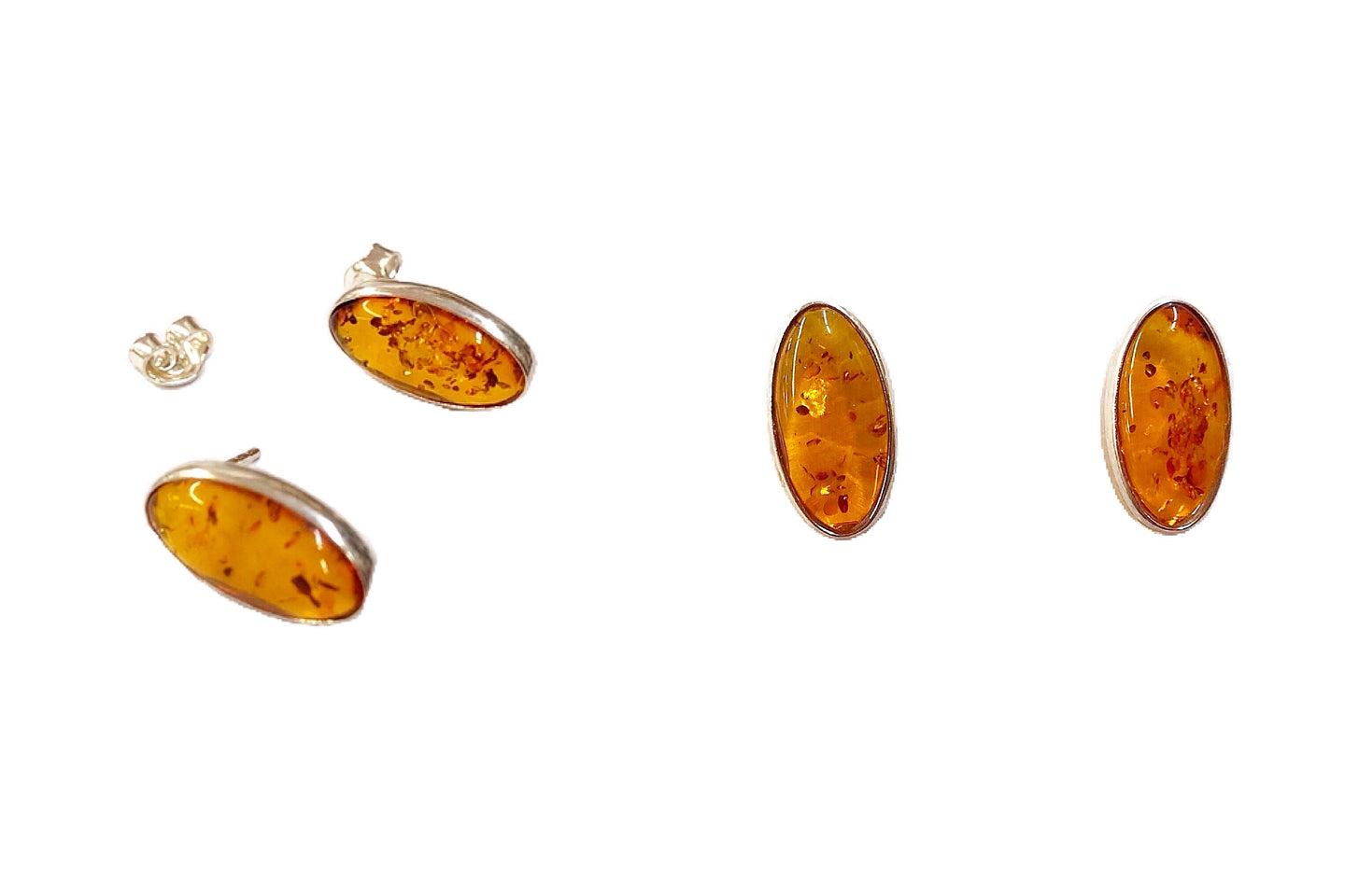 Baltic Amber Gemstone Earrings #3