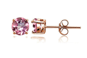 Pink Ice Cubic Zirconia Stud Earrings