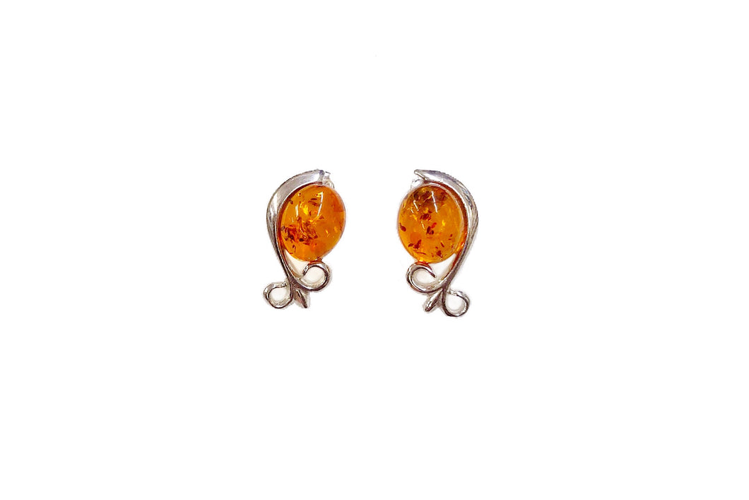 Baltic Amber Gemstone Earrings #1