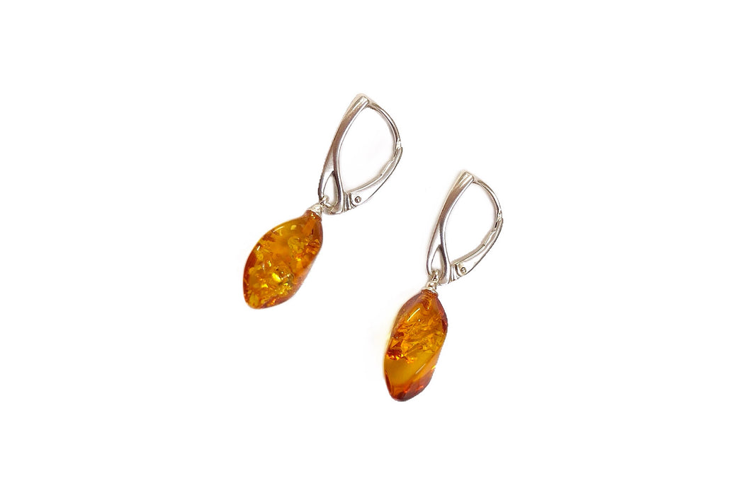 Baltic Amber Gemstone Earrings #6