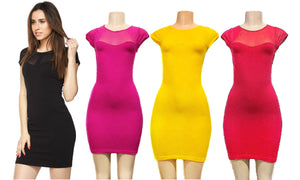 Evening Bodycon Dress with Sweetheart Neckline & Sheer Upper