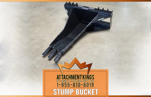 Why you NEED a Skid Steer Stump Bucket