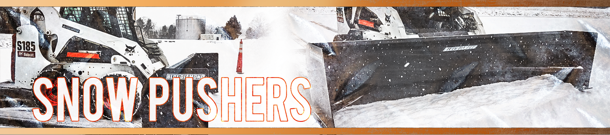 Snow Pushers for Skid Steer Loaders