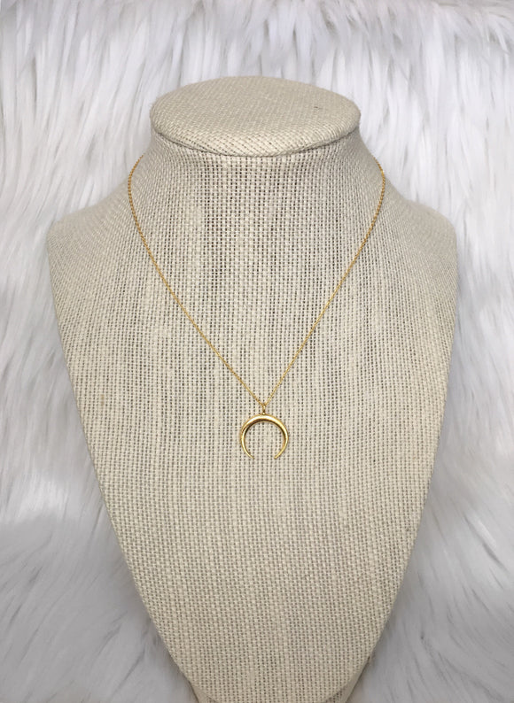 Gold Horn Necklace
