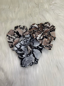 Large Snakeskin Scrunchies