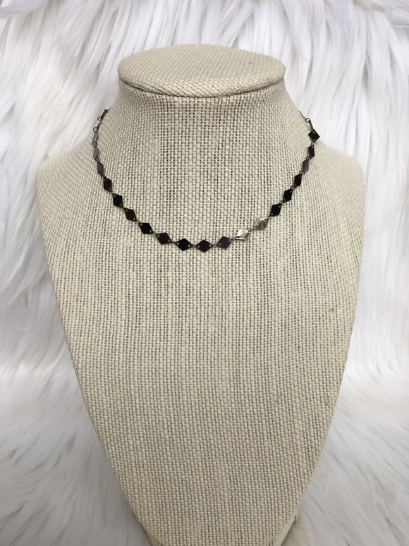 Gunmetal Diamond Choker