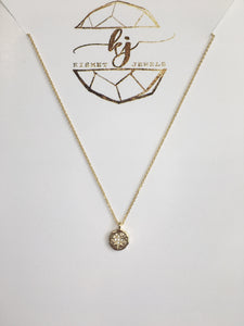 Dainty Gold Compass Necklace