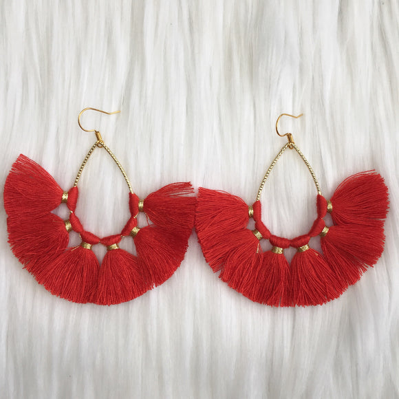 Teardrop Tassel Earrings