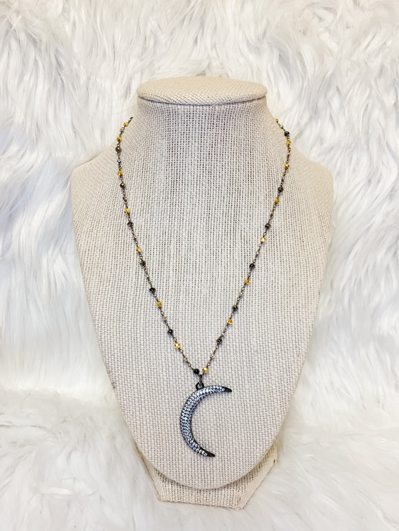 Pave Crescent Moon