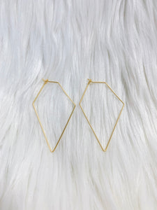 Gold Diamond Wire Earrings