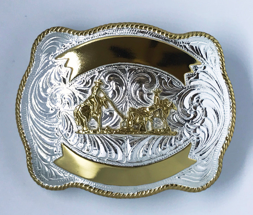 Crumrine Team Roping Buckle