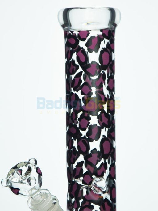 "12"" Leopard Bong by EASY Glass"
