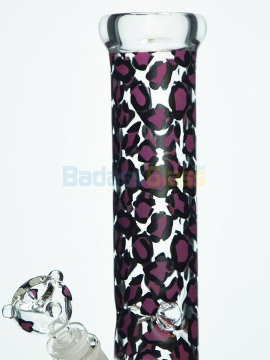 "15"" Leopard Bong by EASY Glass"