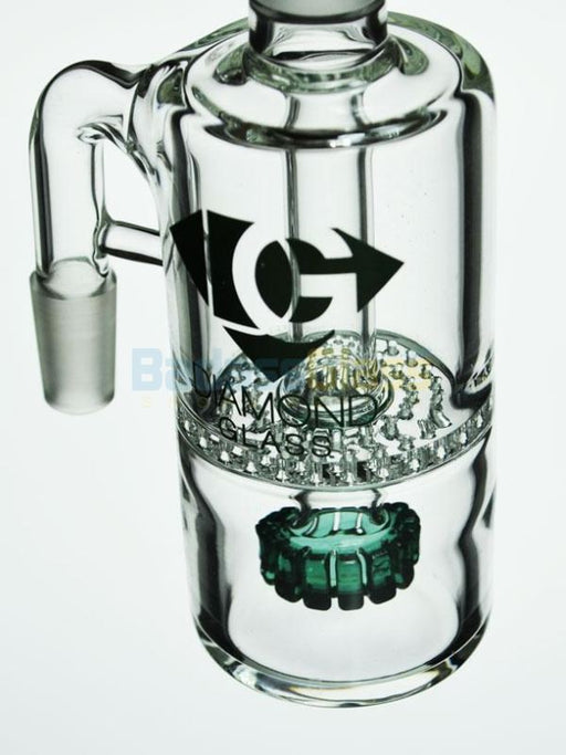 14mm 90 Degree Showerhead Honeycomb  Ash Catcher By Diamond Glass