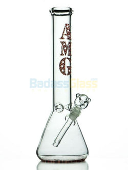 "15"" Cheetah Beaker Water Pipe by A.M.G Glass"