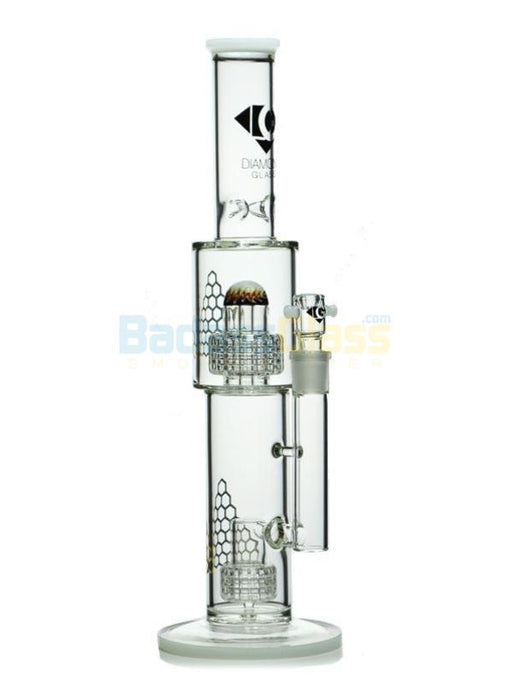 "16"" Matrix to Gridded Showerhead Water Pipe By Diamond Glass"