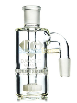 18mm 90 Degree Showerhead Honeycomb Ash Catcher By Diamond Glass