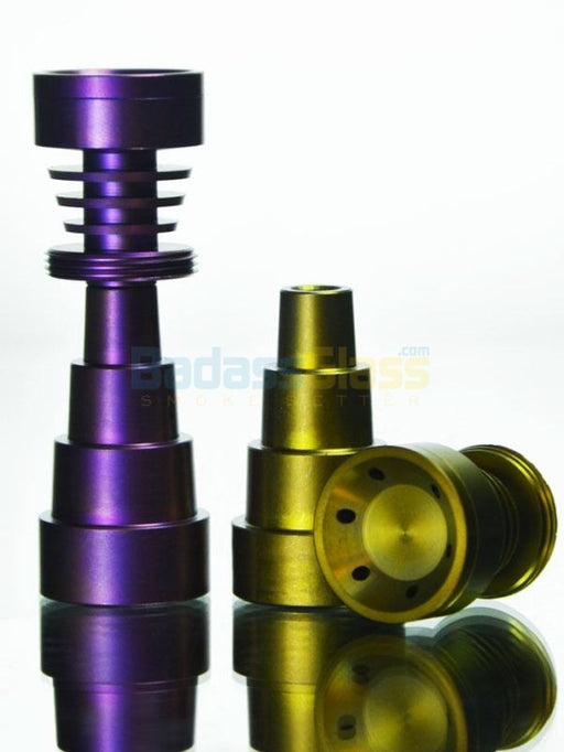 6 Hole Domeless Titanium Nail By Dab Logic