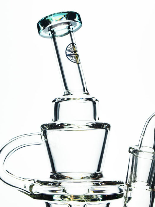 "7.5"" Matrix Funnel Recycler by Bougie Glass"