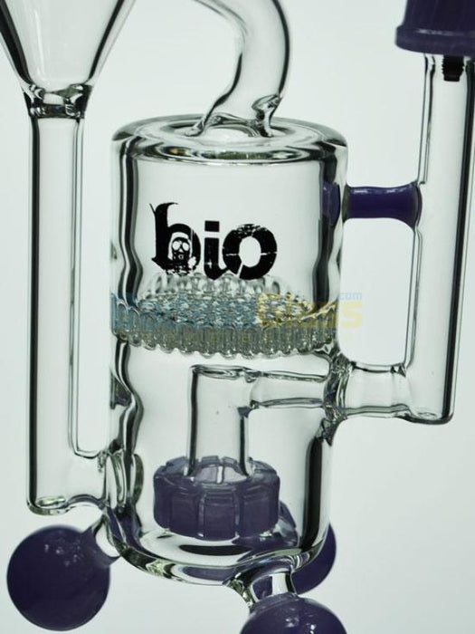 Biohazard Showerhead Honeycomb Recycler Oil Rig