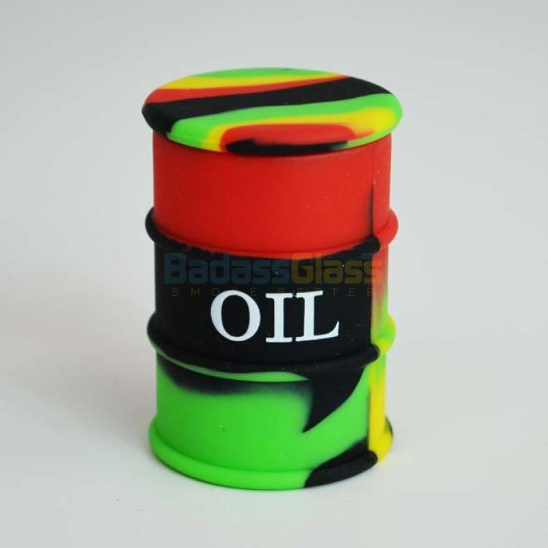 Black Rasta Oil Drum Wax Container